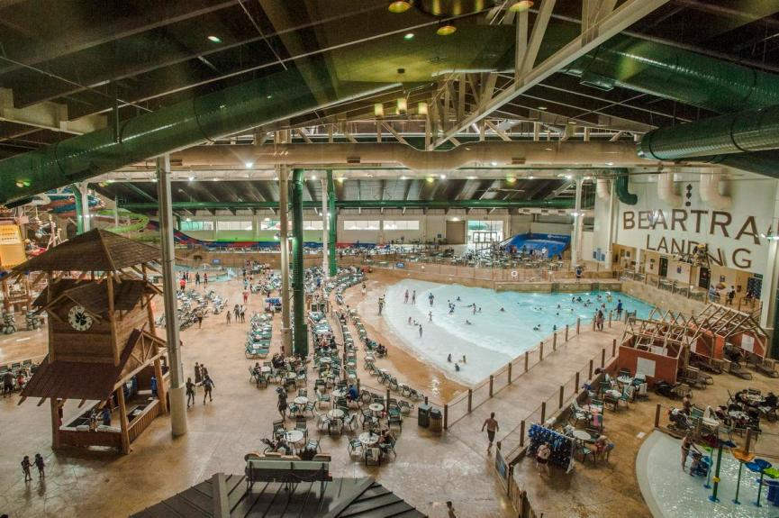 Hotel guests get access to the water park attractions at Great Wolf Lodge in Garden Grove on Friday.  ///ADDITIONAL INFO: GreatWolf.guests - 3/4/16  - PHOTO BY JOSHUA SUDOCK, STAFF PHOTOGRAPHER -   Picture made at Great Wolf Lodge in Garden Grove, California on Friday, March 4, 2016.