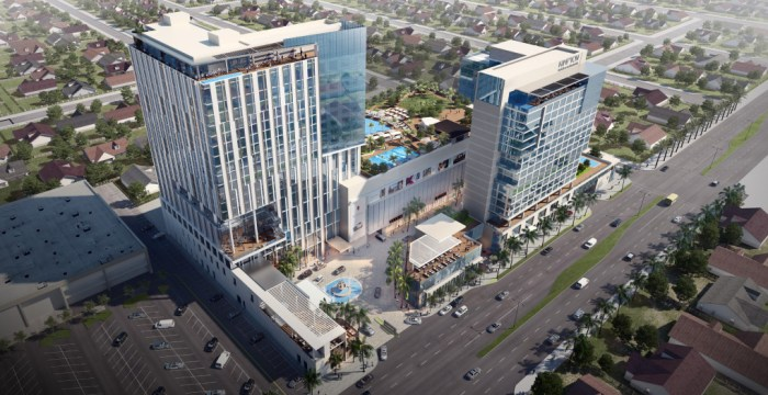 Kimpton Hotels and Restaurants has announced plans for a 200-room, upscale boutique hotel on Harbor Boulevard in the Anaheim resort district. /Rendering courtesy of Kimpton Hotels and Restaurants