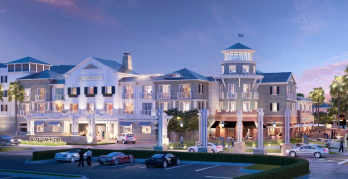 The Lido House in Newport Beach opened in 2018 with 130 rooms. (Courtesy of R.D. Olson Construction)