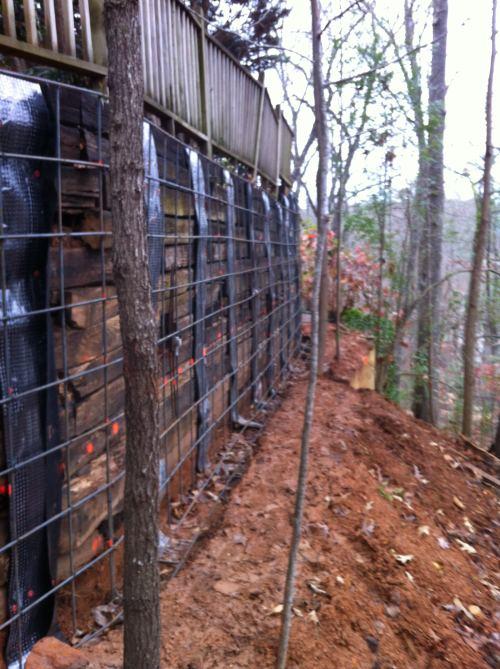 Medium Of Railroad Tie Retaining Wall