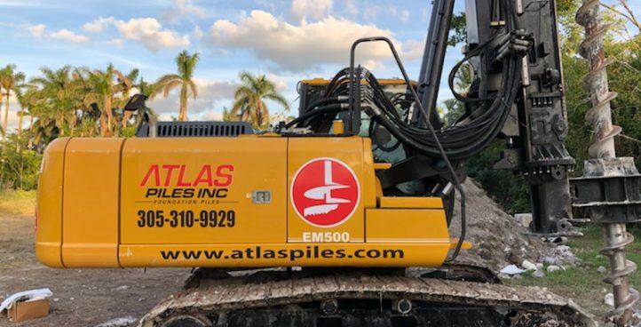 Atlas Piles Auger Cast, Helical, Pin,  Continuous Flight Piling