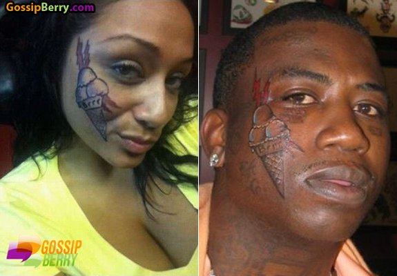 New Face Gucci Mane Tattoos On His Ice Cream Pictures 1 Gucci Mane s 1 female fan duplicates his ice cream cone tattoo x
