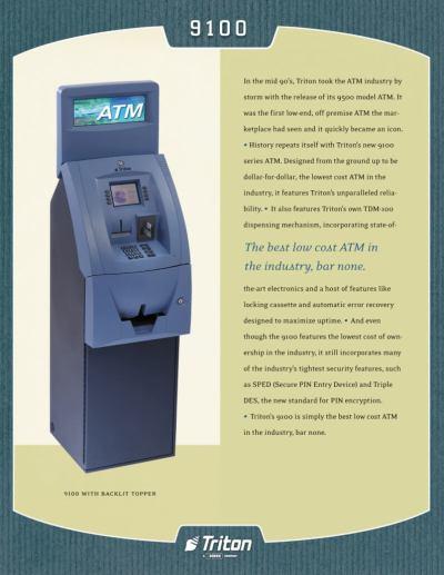Triton 9100, Triton 9100 ATM Machine | Triton ATM Machine 9100