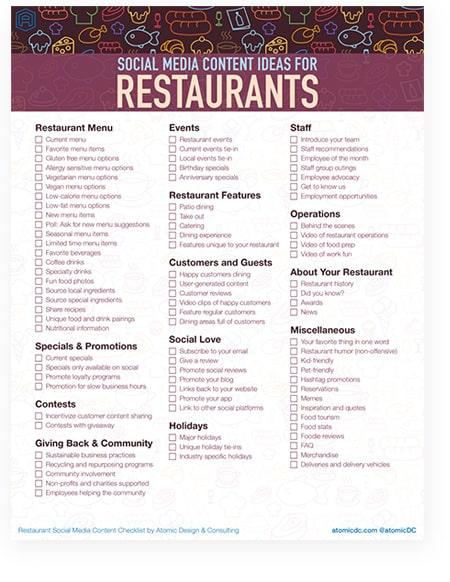 87 Social Media Content Ideas for Restaurants Dallas Digital