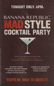 Banana Republic Mad Style Cocktail Party