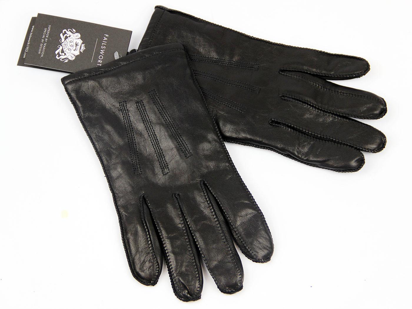 failsworth george retro 1970s vintage style leather gloves