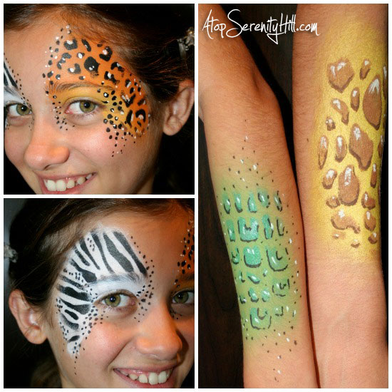 Sincerely, Paula Summer Fun! Simple Face Painting DIY