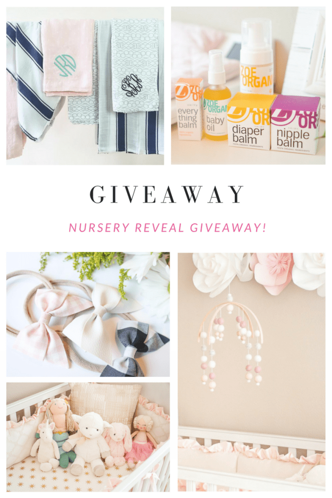 Katelyn Jones Blogger A Touch of Pink Nursery Instagram Giveaway