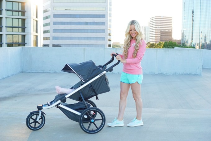 Katelyn Jones A Touch of Pink Fitness Routine Thule Jogging Stroller