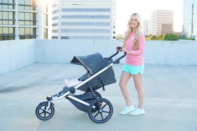 Katelyn Jones A Touch of Pink Jogging Stroller Thule