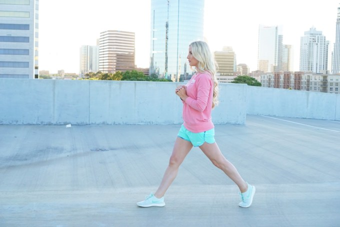 Katelyn Jones A Touch of Pink Blog Lunges Workout Routine Mom