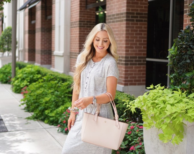 Katelyn Jones A Touch of Pink Blog Tory Burch Tote