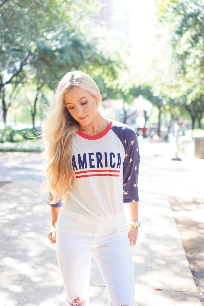 Katelyn Jones A Touch of Pink Blog Cute Fourth of July Shirt