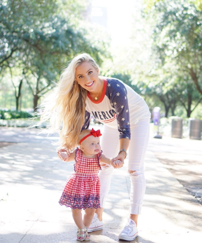 Katelyn Jones A Touch of Pink Blog Mommy Daughter Summer Outfit 4th of July