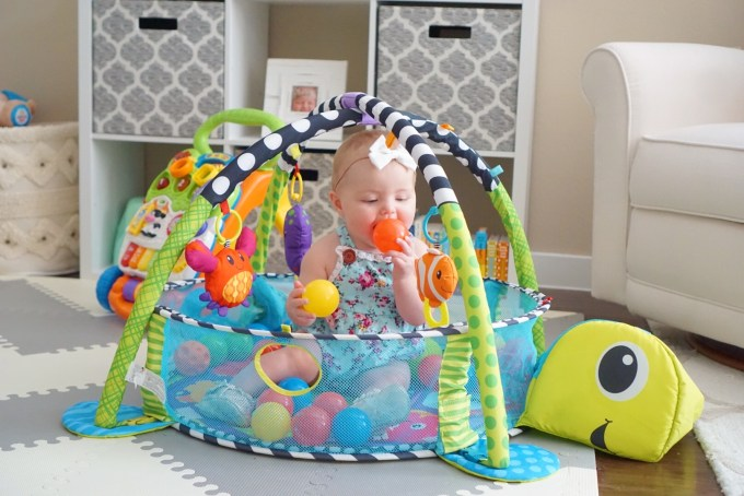 Katelyn Jones A Touch of Pink buybuy BABY The Infantino Grow-With-Me Activity Gym and Ball Pit