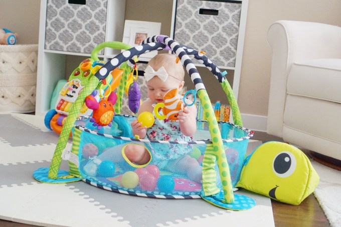 Katelyn Jones A Touch of Pink buybuy BABY Infantino Grow-With-Me Activity Gym and Ball Pit