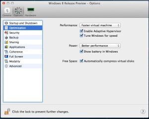 Parallels Desktop 8: VM Configuration