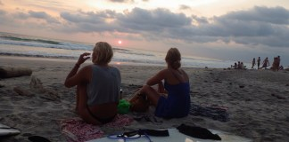 Costa Rica sunset beach surfing