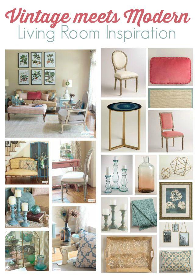 Vintage Meets Modern Living Room Decorating Ideas - vintage living room ideas
