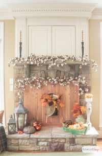 Fall Fireplace Mantel Decorating Ideas - Atta Girl Says