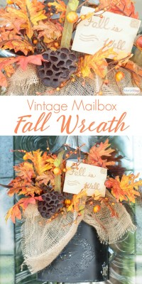 Fall Door Decor in a Vintage Mailbox - Atta Girl Says