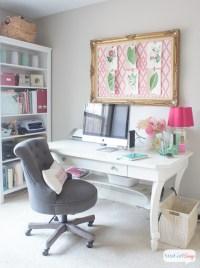 Feminine Home Office & Craft Room Tour - Atta Girl Says