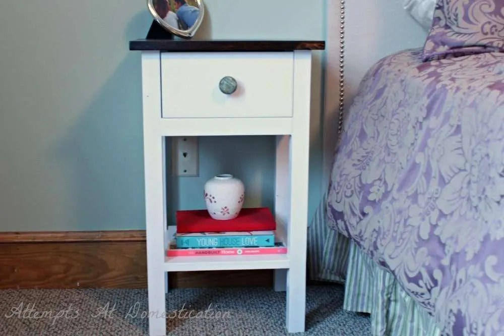Hand Built Nightstand With Drawer