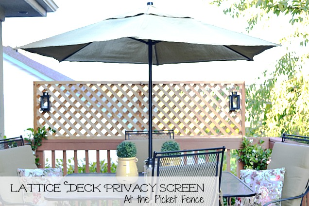 Lattice Turned Deck Privacy Screen - At The Picket Fence