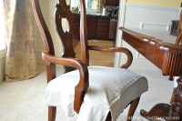 Drop Cloth Chair Skirts - At The Picket Fence