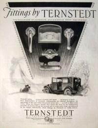 1928 Ternstedt Automobile Door Handles & Car Fittings Ad ...