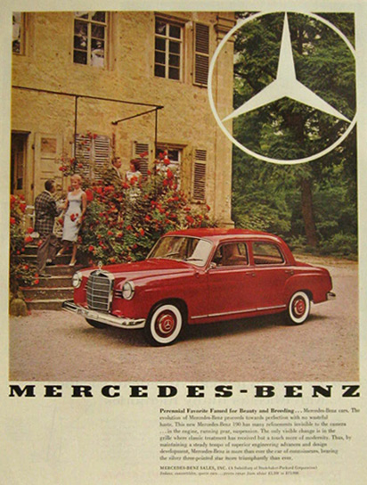 1960 190 Mercedes Benz Automobile Ads Pinterest Benz - advertisement brochure