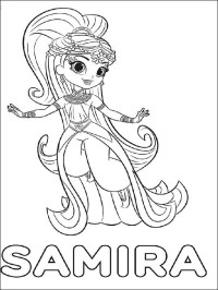 Shimmer Da Colorare Top 14 Shimmer And Shine Coloring Pages