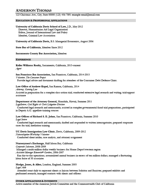 Government Attorney Resume Samples Templates Tips AttorneyResume