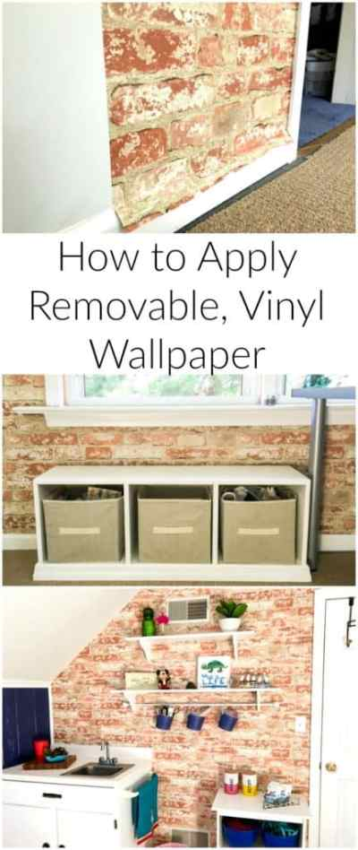 How to Apply Removable Wallpaper - A Turtle's Life for Me
