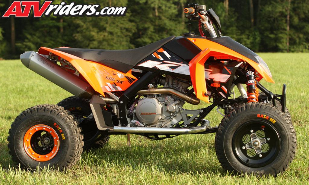 2009 KTM 505SX  450SX ATV Motocross Test Ride / Review