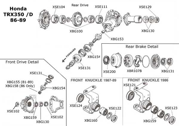 Honda TRX350 Parts Diagram