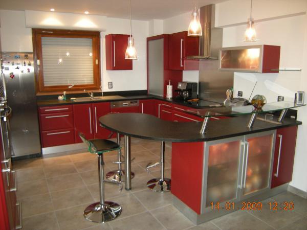 Cuisine Moderne Rouge Et Noir. tableau rouge et blanc frais cuisine ...