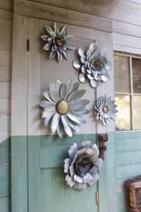 Large Metal Wall Flowers   Wall Plate Design Ideas
