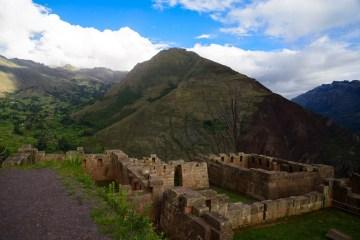 Pisaq, à une heure de cusco, où il y a des ruines incas