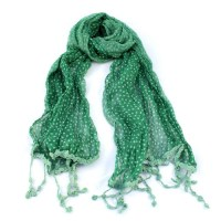 Green Dotty Scarf