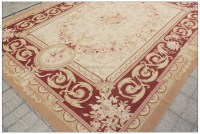 ANTIQUE RED BEIGE 8X10 Aubusson Area Rug CLASSIC FRENCH ...