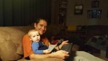 Callan and his keyboard