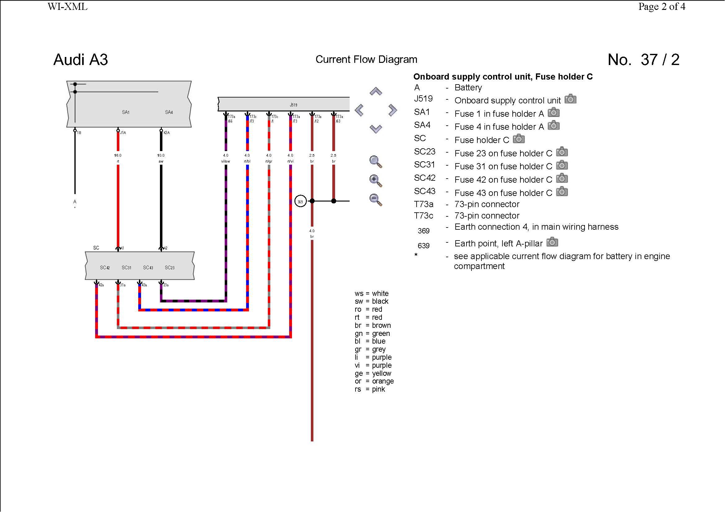 audi lights wiring diagram