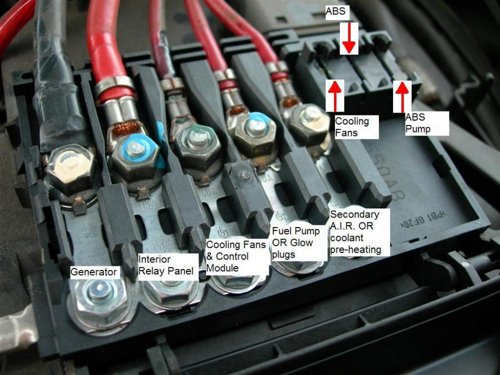 05 audi a4 fuse box location