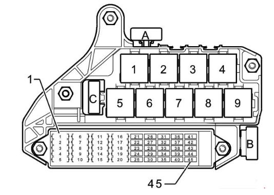 Audi Fuse Box Map Wiring Diagram