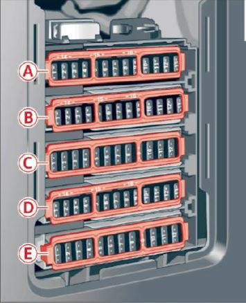 Audi A5 F5 (2016 - ) - Fuse Box Location and Fuses List