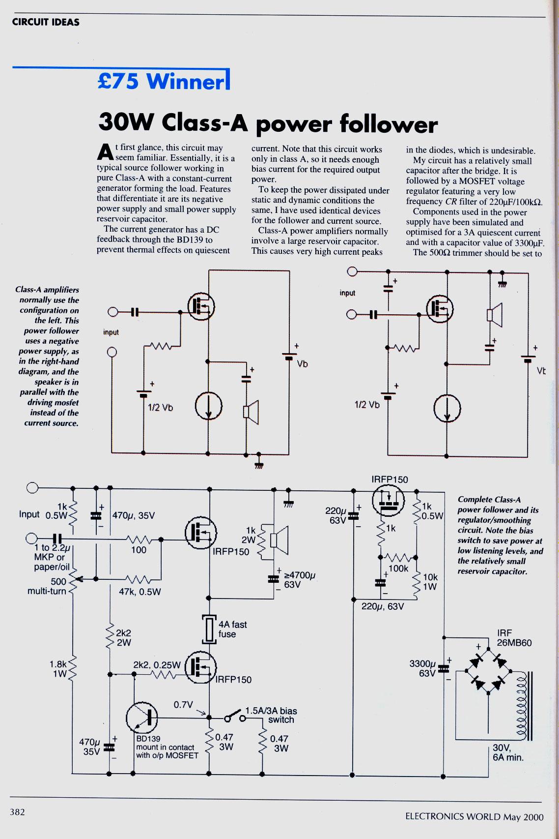 class a power amplifiers