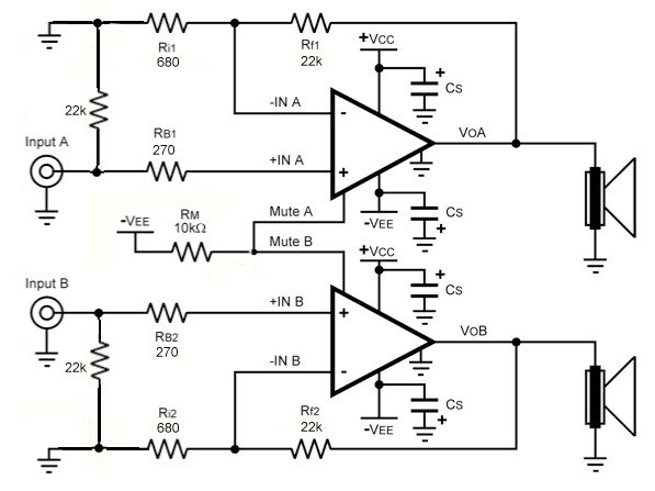 lm4780 2x60w power amplifier