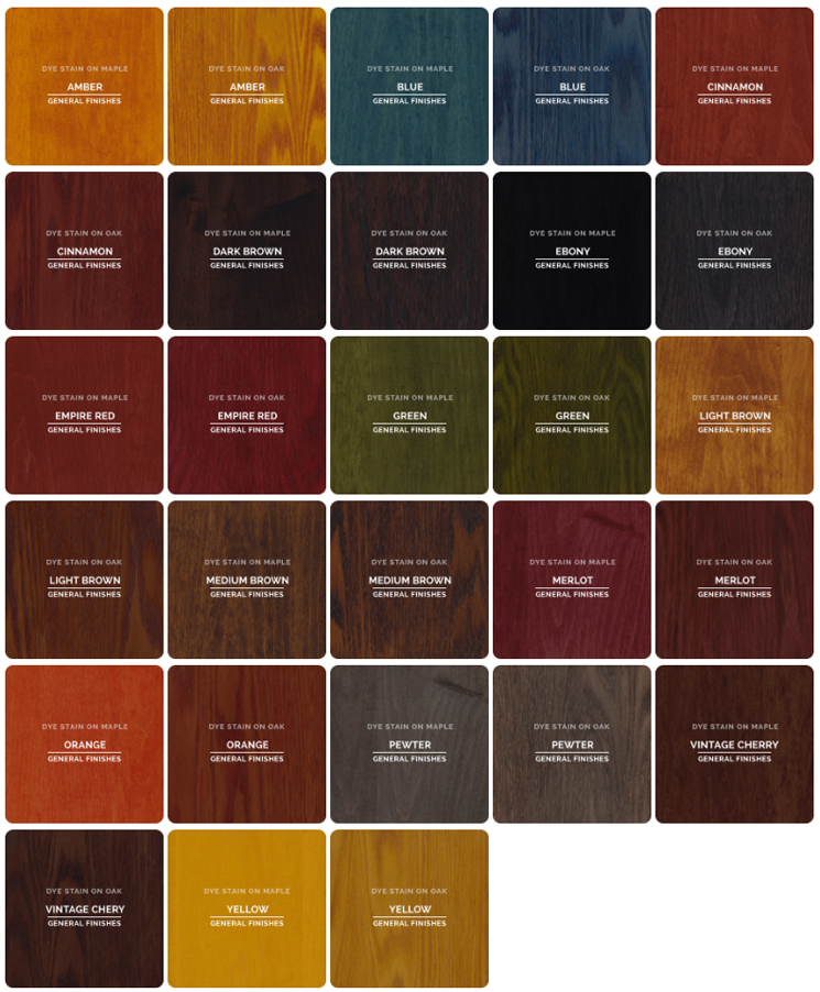 Sample General Color Chart Mahogany Stain Color Charts Wood - stool color chart