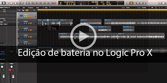 Edição de Bateria no Logic Pro X – Vídeo